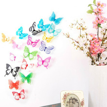 Colorful 3D Butterfly Wall Sticker Home DIY Decorative Sticker Bedroom Living Room Television Background Decorations Drop Ship