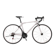 Road Bicycle 21 Speed Racing Track Bike 700C Fixed Gear Bicycle High Carbon Steel Frame 49cm Road Bicicletas Touring Bike(China)