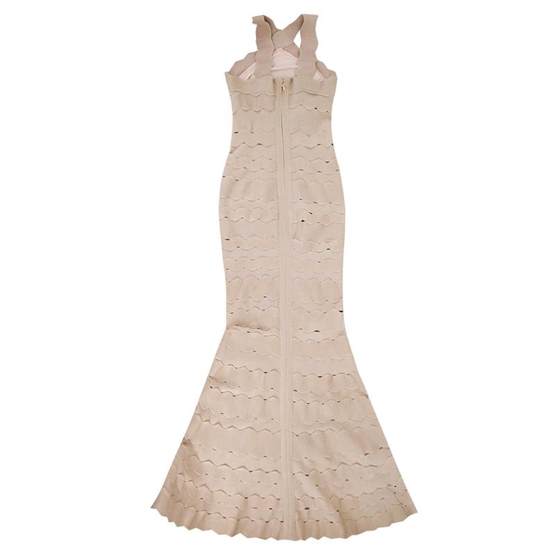 ShejoinSheenjoy 2018 Sexy Halter Neck Long Bandage Dress Vestidos Nightclub Hollow Out Celebrity Party Dresses Women Maxi Dress (1)