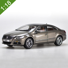 Brand New Volkswagen factory 1:18 Cairo gold Volkswagen CC alloy model car high imitation for adult gifts toys collection