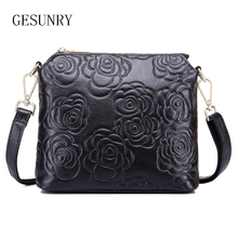 2016 New Genuine Leather Shoulder bag Women messenger bags clutch Cow leather Girls Casual bag Brand Fashion Handbags(China)