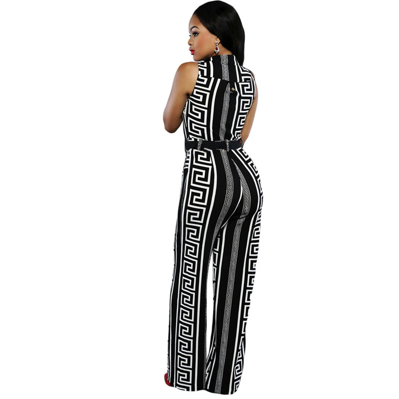 Dear-Lover-Wide-Leg-Jumpsuit-Overalls-2016-Long-Trousers-Outfits-Fashion-Women-Black-Print-Gold-Belted (1)