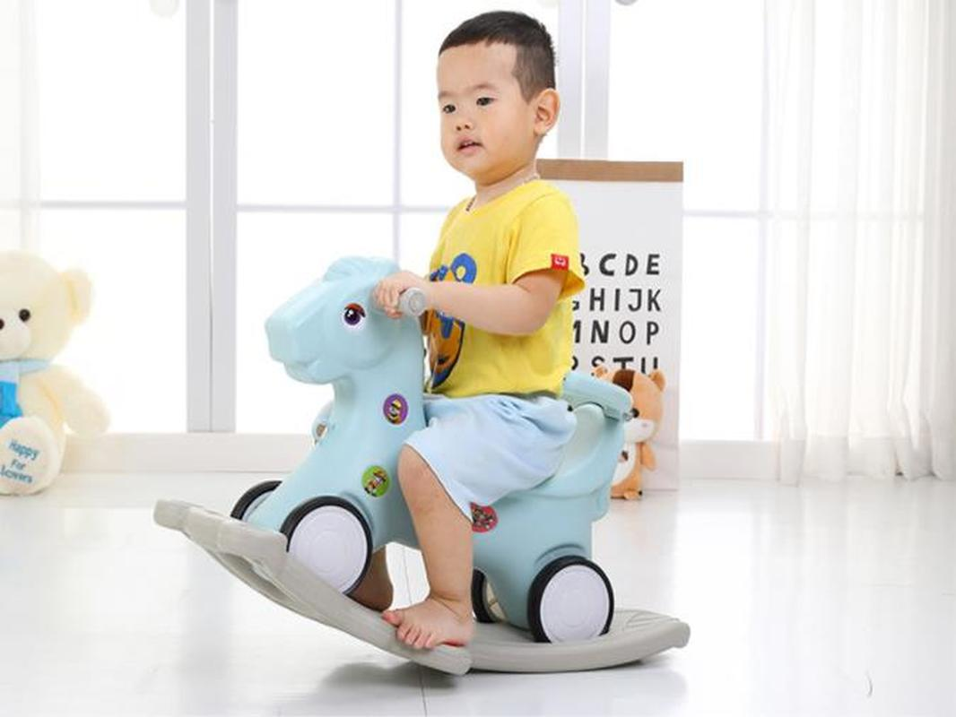 Kids Riding Toys 3 In 1 Baby Rocking Horse Riding Horse Toy Household Ride On Animal Toys Plastic Baby Walker Kids Horse Toys 1 Main Street Usa