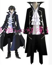 Free shipping Pandora Hearts Gilbert Stain Nightray Raven cosplay costume(China)