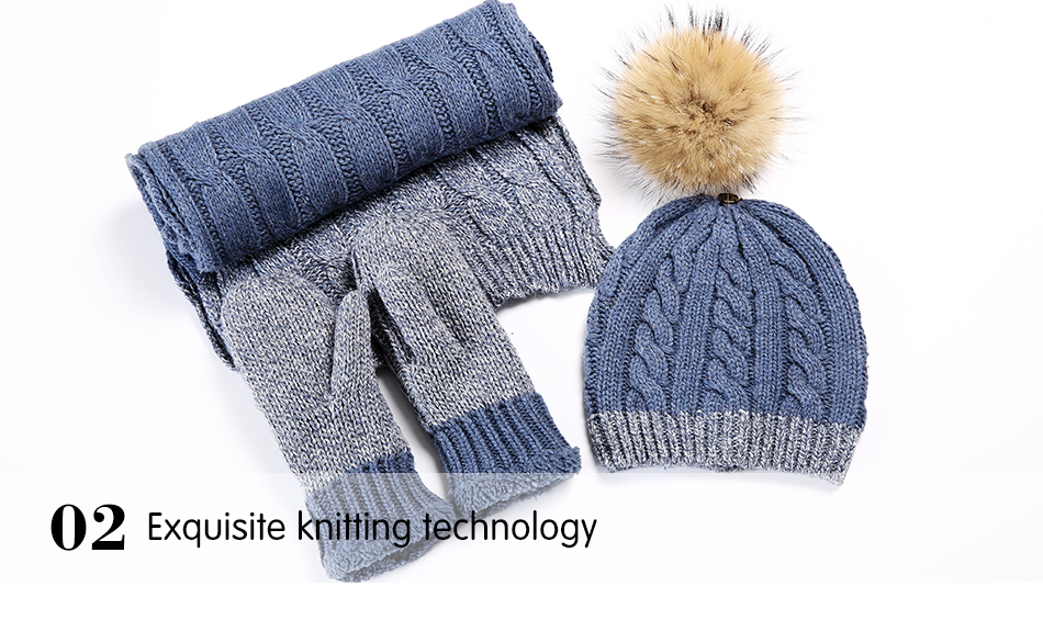 hat and scarf Glove Set TZ007 PC (10)