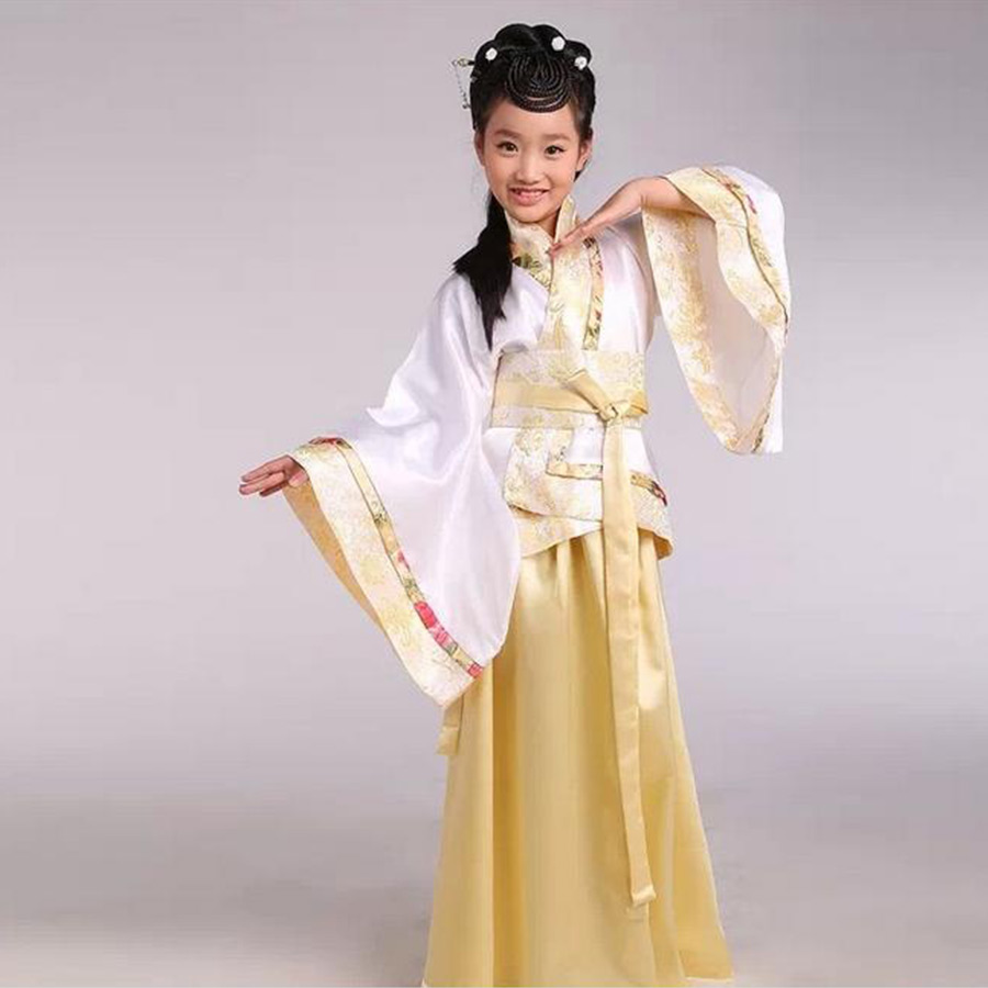 Tang ancient Chinese Gege traditional national costume Hanfu Girl red dress princess children  cosplay clothing kids<br>