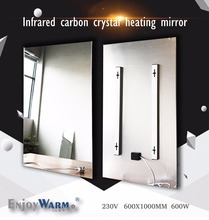 600*1000mm 600W Free Shipping mirror best selling far infrared heater panel(China)