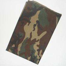 grid camouflage cotton print fabric army green camo outdoor casual clothing material