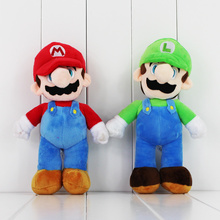 25cm Super Mario Plush Toy Mario Luigi Soft Stuffed Doll With Tag(China)
