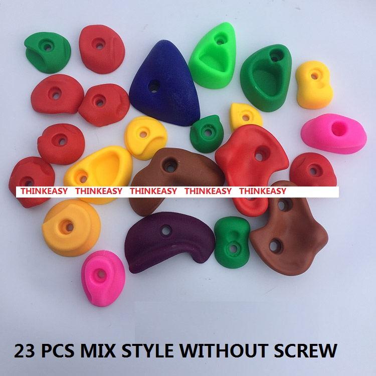 HTB1q1ruRXXXXXaJXpXXq6xXFXXXH - 16 to 32 PCS / SET Plastic children Rock Climbing Wall Rock Stones Kids Toys Sports tool outdoor game kindergarten Without scre