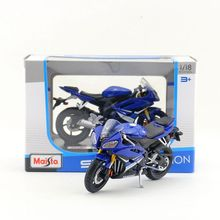 Free Shipping/Maisto Toy/Diecast Metal Motorcycle Model/1:18 Scale/2008 YAMAHA YZF-R6 Super Blue/Educational Collection/Gift(China)