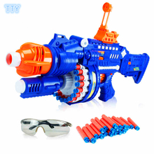 Hot sale Electronic Auto Fire Submachine gun toy Sniper Rifle soft bullet  pistol gun toys for Children cool best gifts