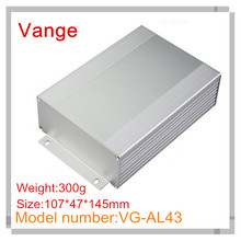 1pcs/lot wall mounted panels industry aluminum case enclosure 6063-T5 aluminum junction box 107*47*145mm for GPS tracker(China)