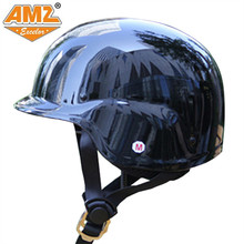 AMZ motorcycle helmet retro halley style locomotive half helmet four seasons DOT approved(China)