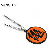 J Store Anime Dragon Ball Master Roshi round pendant necklace Kame Sennin logo long necklace for men accessories(China)