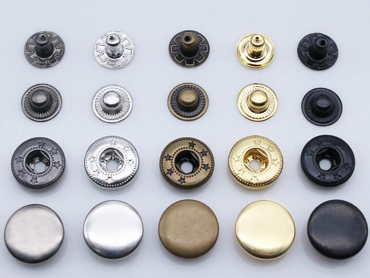 Fifty 12 mm /'Silver tone/' Magnetic Press Studs