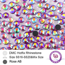DMC Hotfix Crystals Rhinestone  SS20 Rose AB 10 Gross/bag CPAM Free Brides Stones Garment Accessories,Wholesale