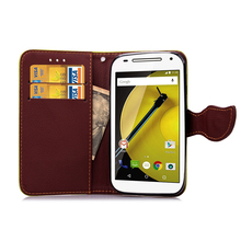 For Motorola Moto G ( XT1032 ) Leaf Clasp Flip Leather Case Stand Card Slot Wallet Cases black Cover 1032 Motorola1032 G1