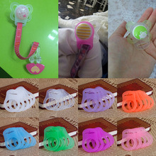 5Pcs Multi Colors Silicone Baby Dummy Pacifier Holder Clip Adapter for MAM Rings(China)