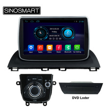 SINOSMART 9 Inch Quad Core CPU 1G RAM Android 4.4 Car DVD GPS Navigation for Mazda 3 2014 Axela No Canbus