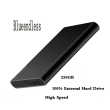 "Blueendless External Hard Drive 250GB Disk USB3.0 disco duro externo 2.5"" Metal hd externo laptop desktop disque dur"
