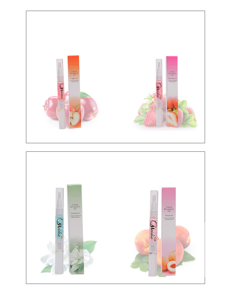 Flower Fruit Nail Nutrition Oil Pen Moisturizing Cuticle Revitalizer Anti-hangnail Nail Soften Treatment Oil Manicure Protector 18