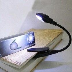 Гибкая светодиодная лампа для чтения книг, лампа с зажимом, настольная лампа для кровати, мини светодиодный светильник для книг, лампа для ч...