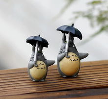 Umbrella My Neighbor Totoro Figure decorative aquarium mini fairy garden cartoon animal statue miniature Moss resin craft TNS007(China)