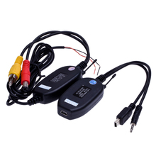 2.4Ghz Wireless RCA AV Video Transmitter Receiver for Rear View Camera Monitor Auto DVD MP5 Player