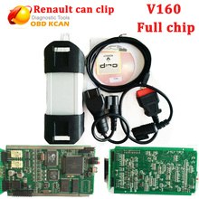 Newest V160 version Multi-language Renault Can Clip Interface Professional Auto Diagnostic Tool Can Clip Scanner for Renault
