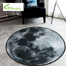 3D Earth Round Mat Carpets for Bedroom Computer Chair Non Slip Area Rugs Children Bedroom Play Mat Coffee Table Mat Tapete(China)