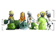 Plants VS Zombies 4~8cm PVZ 10pcs/set Cute Model Dolls Game PVC Action Figure Kids Birthday Gift
