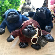 15cm Gorilla King kong plush key chain doll monkey plush toy for bag pendant men & women