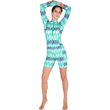 SABOLAY Women one-piece lycra tight zipper Quick dry Swim Shirts Rashguard Swimwear Surf Diving Sunscreen Swimsuit Rash Guards(China)