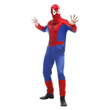 Men Halloween spider man Costumes Movie Role play Coaplay Carnival Purim Christmas Festival parade masked ball Masquerade dress