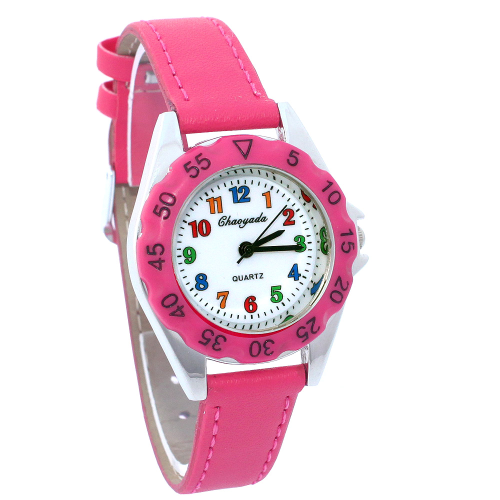 Cute Unicorn Ladies Watch For Kids Girls Boy Light Blue Leather Wristwatch Casual Dress Fashion Children Learn Time Watch U85b Watches