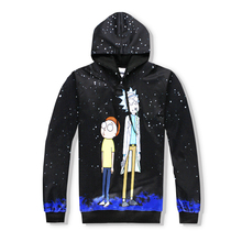PLstar Cosmos Hot sale high quality Hoodies Rick and Morty Cartoon printing Women/Men harajuku Hooded sweatshirts 3d pullover