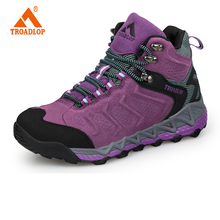 2017 Man Waterproof Breathable Hiking Shoes Big Size Outdoor Boots Black Trekking  Sneakers couples Shoes
