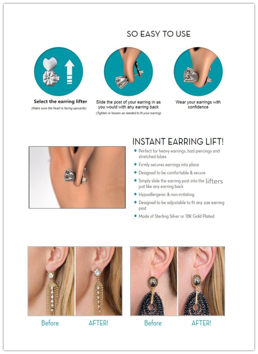 Instant earring lift-instruction