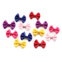 Armi store Handma Simple Solid Color Dog Bow Dogs Hair Little Flower Bows 6029023 Pet Grooming Accessories Wholesale