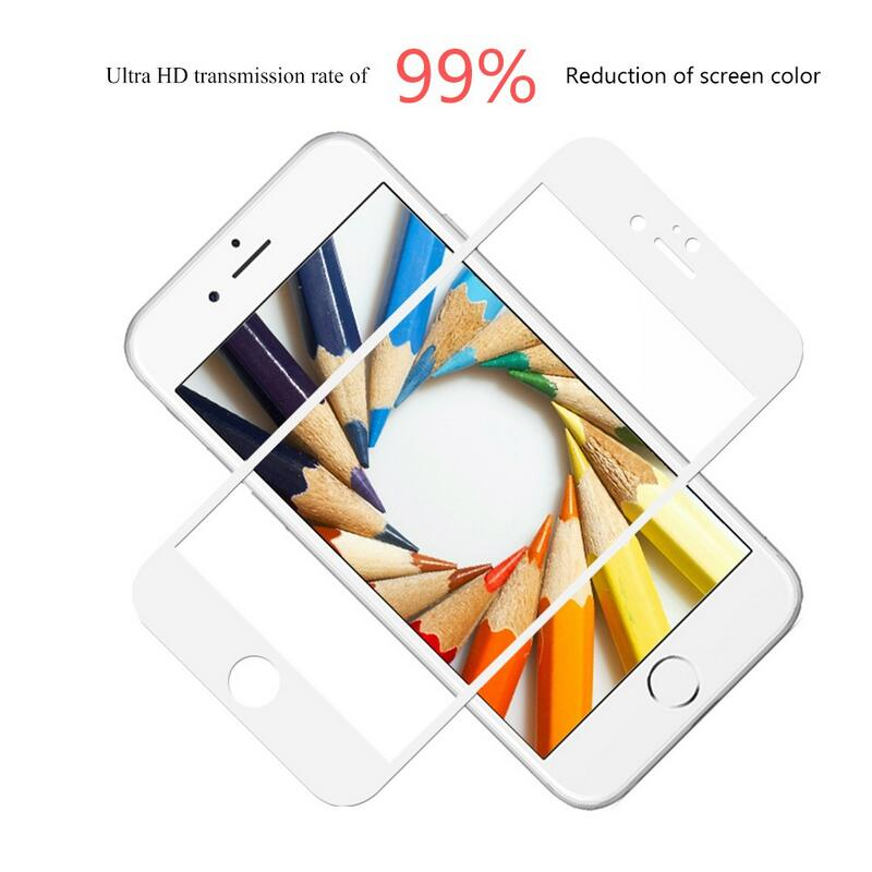 Full Coverage Cover Tempered Glass For iPhone 6 HD clear