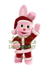 pink Christmas bunny mascot costume hot sale new XMAS RABBIT pet theme anime cosply costumes carnival fancy dress SW2929