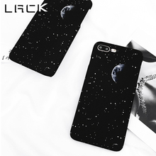 LACK Moon Night Starry Sky Phone Case For iphone 7 Plus Case Hard PC Matte Cover Universe Series Cases For iphone 7 Case(China)