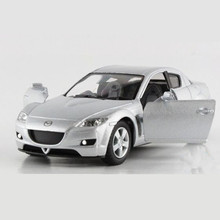 Emulational RX-8 Pull Back Toy Car Truck Models / Brinquedos, KINSMART Alloy 1:36 Scale Doors Openable Cars Toys For Children