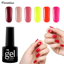 Verntion Acrylic Gel Uv 24 Colour Nail Art Lamp Gel Lucky Varnish Soak Off UV LED Semi-permanent Gel Nail Lacquers for Sale(China)