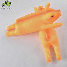 New Squeak Squeaker Chew Gift Yellow Screaming Rubber Roasted Suckling Pig Pet Dog Toy 3 Size 25X8.5x6.1 Cm