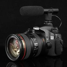 Professional 3.5mm Interview Meeting Camera Microphone Hot Shoe Mount Stereo Shotgun Mic Recording Studio Accessories for DSLR