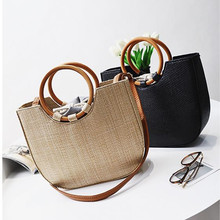 Chu JJ Straw Women's Handbags Casual Women Bags Women Messenger Bags Shoulder Beach Bag Bolsas Tote(China)