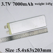 1pc sample 5463203 3.7v 7ah li battery 3.7v High drain 20A lithium polymer 3.7v 7000mah For power tool pack diy power bank etc