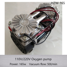 HZW-165 110/220v Silent Oilless Piston Vacuum Pump 165W with 50L/min vacuum flow(China)